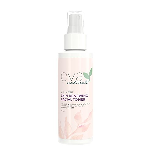Eva Naturals All-In-One Skin Renewing Toner (120 ml) – Hydratisierendes Gesichtswasser - Hautreiniger zur Aufhellung und Bekämpfung von Akne – mit Vitamin C, Lavendel und Bienenpropolis