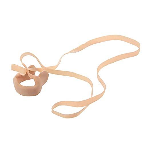 Schwimmen-Nasen-Klipp mit String angenehm weichen Latex Nasen-Steckern für Kinder und Erwachsene- Neutral Beige, Schwimmen mit verstopfter Nase