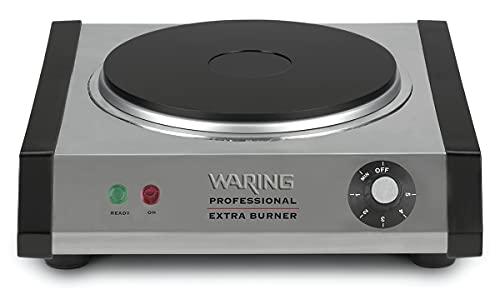 Waring Commercial WEB300 Single Cast Iron Burner, 1300W, 120V, 5-15 Phase Plug