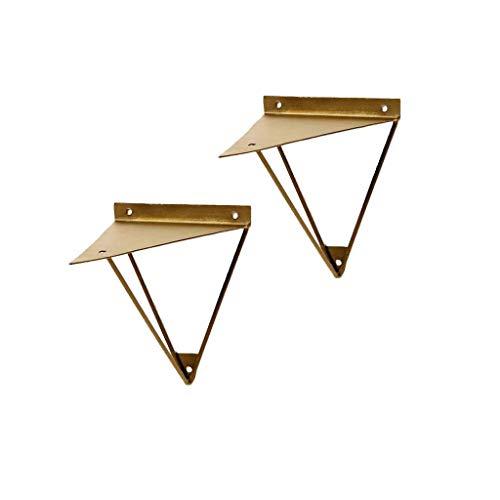 YXB Meubelvoeten-DA Plank steunframe Ophangen zware industrie zwevend frame metalen beugel driehoek steun frame smeedijzer boekenplank, 2 stuks