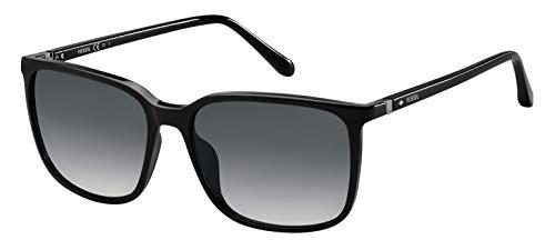 Fossil Men's FOS 3081/S Rectangular Sunglasses, Black, 57mm, 16mm