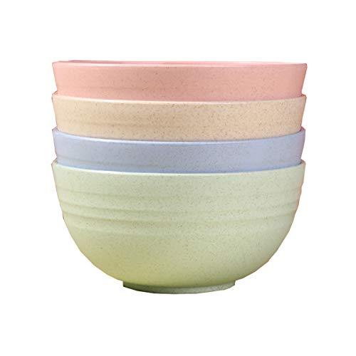 LOKIH Müslischale Salatschüssel Bowl Schüssel Mit Camping Schale Obstschalen Suppenschüsseln, Leicht,Spülmaschinen Mikrowellentauglich, 4 STK,5 Spezifikationen,Multi Colored,15x8cm