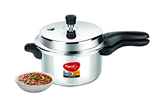 Pigeon by Stovekraft Inox Stainless Steel Outer lid Induction base pressure cooker 5 Litre