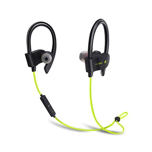 Wsaman Auriculares In-Ear, Auriculares Bluetooth 5.0 Impermeable con Cancelación Activa de Ruido para Teléfono Celular/Running, Auriculares Bluetooth Deportivos,Amarillo