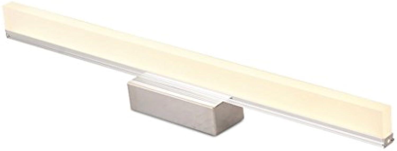 Energie sparen Lange führte spiegelscheinwerfer, drei-farbe licht-free punch bad badezimmer wasserdicht einfache licht kosmetische lampe waschspiegel lampe lnge 40 80 100 120 cm Dauerhaft