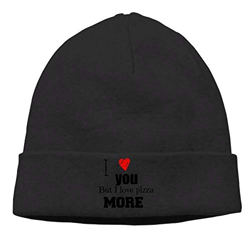 I Love You But I Love Pizza Than More Beanies Skull Cap Winter Warm Hedging Cap