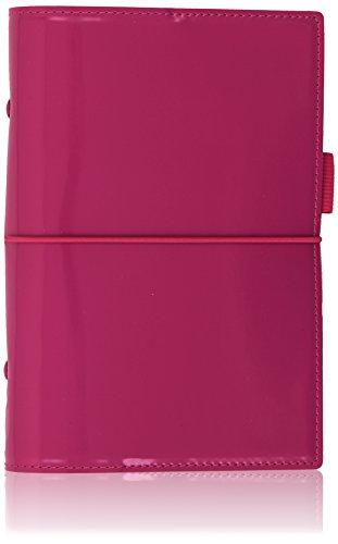 Filofax Domino Patent Personal Organiser (Hot Pink)
