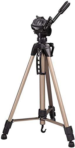 Hama Kamera Stativ Star 61 (Leichtes Dreibeinstativ mit 3-Wege-Kopf, Fotostativ mit 60-153cm Höhe, Tripod inkl. Tragetasche, Kamerastativ passend für Spigelreflex- & Systemkameras) Champagner