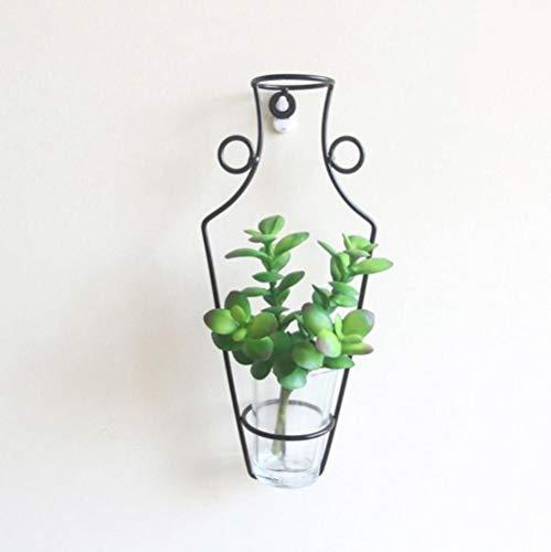 TUA DIY Creativite Estantes decorativos estilo nórdico, marco de hierro para colgar en la pared, estante de flores secas