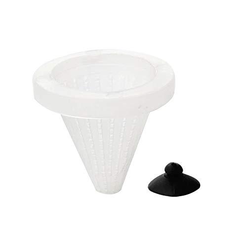 Aquarium Red Worm Cone Feeder Direkt-Fisch-zufuhr-Trichter-Cup Fischfutter-Werkzeug Mit Saugnäpfen Fish Tank Zubehör Weiß