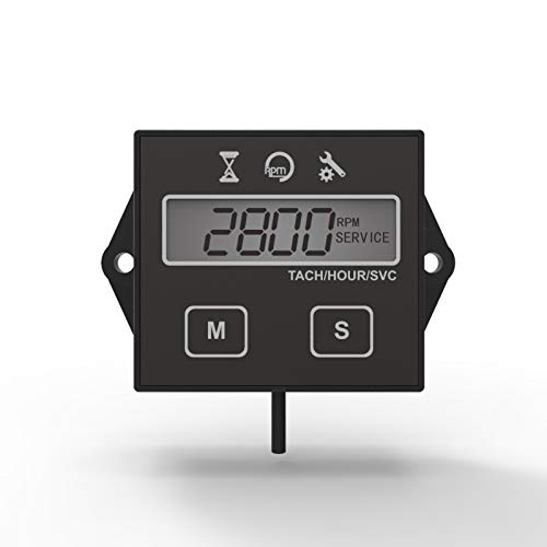 Qiilu 2in Mini Hour Meter Car Boat Round Hour Meter Waterproof Car Marine Boat Motor Gauge Timer
