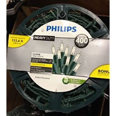 Philips 400ct Clear Heavy Duty Mini String Christmas Lights