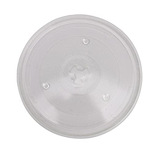 """BQLZR Transparente 10.62 """"diámetro redondo microondas de cristal que cocina la bandeja de cocina de cristal de la placa giratoria"""