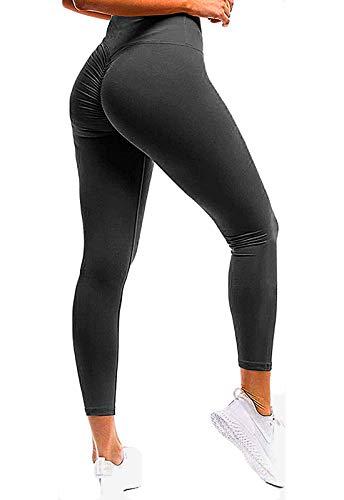FITTOO Mallas Pantalones Deportivos Leggings Mujer Yoga de Alta Cintura Elásticos y Transpirables para Yoga Running Fitness con Gran Elásticos Negro S