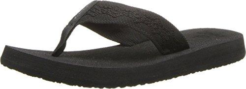 Reef Women's Sandy Flip-Flop, Black/Black, 8