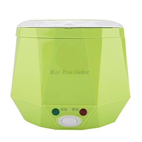 Vaporizador de alimentos, 24V 180W 1.3 L Eléctrico Portátil Multifuncional Mini Olla arrocera Vapor Carro Camión Olla arrocera Calentador de alimentos para oficina, al aire libre, uso escolar(Verde)