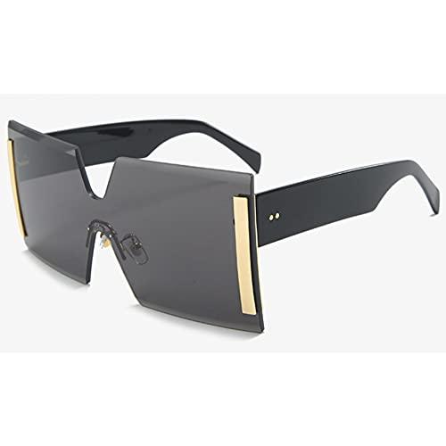 LUOXUEFEI Gafas De Sol Gafas De Sol Sin Montura Para Hombre, Cuadradas, Sin Montura, Gafas De Sol Grandes Para Hombre, Verano