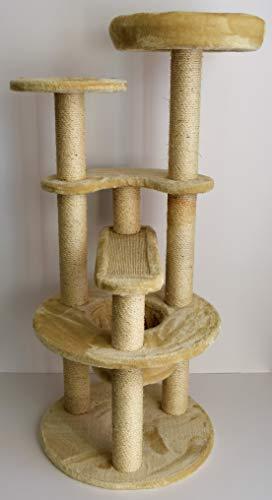 Lemio - Kratzbaum Cappy Kratztonne Sisal Kuschelnest robust 115 cm hoch