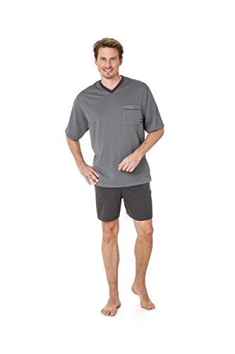 Betz 2 teiliger Herren Shorty Schlafanzug Pyjama kurz Farbe: grau Größen: 48-56 Größe 52