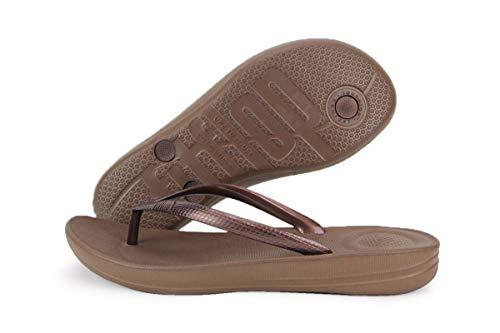 Fitflop Iqushion Ergonomic Flip-flops, Damen Zehentrenner, Braun (Bronze 012), 38 EU (5 UK)