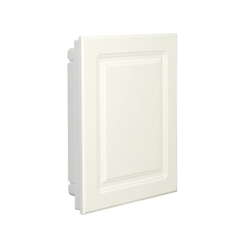 American Pride 9612RP1AR – Recessed White Raised Panel Door Plastic Medicine Cabinet 16 inch x 20 inch