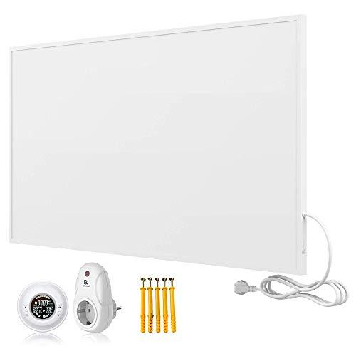 Bringer Infrarotheizung Infrarot Wandheizung Heizung Heizkörper Thermostat (1000 Watt, Heizplatte und Thermostat mit Fernbedienung (BRTF))