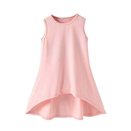 Alikey Baby Zomer, mouwloos, solide print, jurk, vest, kleding, jurk, baby, meisjes, zomer, zonder mouwen, van kant met
