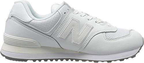 New Balance Herren 574v2 Sneaker, Weiß (White White), 46.5 EU