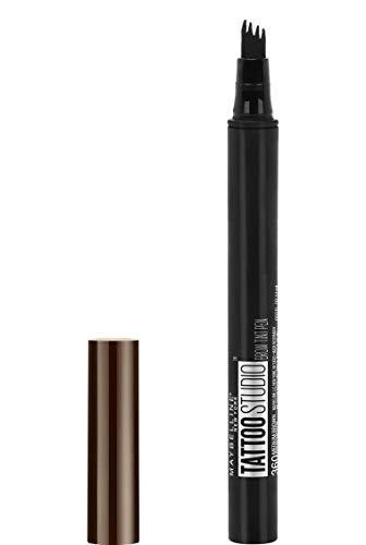 Maybelline New York Penna per Sopracciglia Tattoo Brow, Risultato Definito e Ultra-Preciso Fino a 24H, 130 Deep Brown, 4.6 g