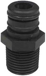 Valley Industries EF-QC-M12-CSK Quick Connect x 1//2 MNPT 12V Diaphragm Pump Port Fitting Black