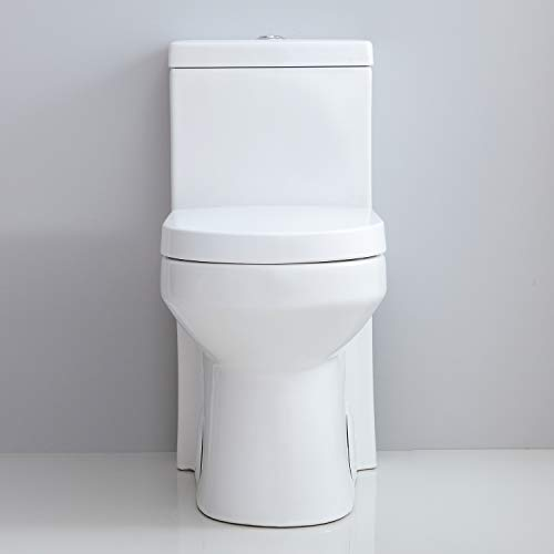 HOROW Small Short 1-Piece Toilet Dual Flush 10'' Rough-in ...