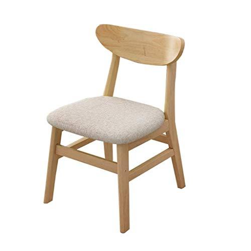 JJZXD Modern Living Chaise à dîner de la Chambre, Siège Linen Tissu rembourré côté du Club invité avec Pieds en Bois Massif (Color : C)