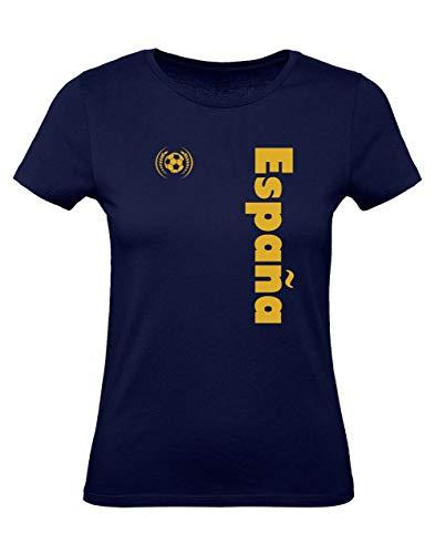 Green Turtle T-Shirts Camiseta para Mujer - Apoya a la Selección Española en el Mundial de Fútbol! Medium Azul Oscuro