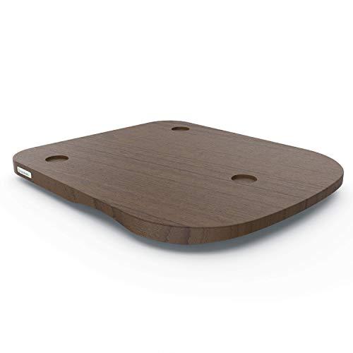 ThermoSlider H V2 Gleitbrett aus Holz Nussbaum für Thermomix TM6 & TM5 - Massivholz aus nachhaltiger deutscher Forstwirtschaft