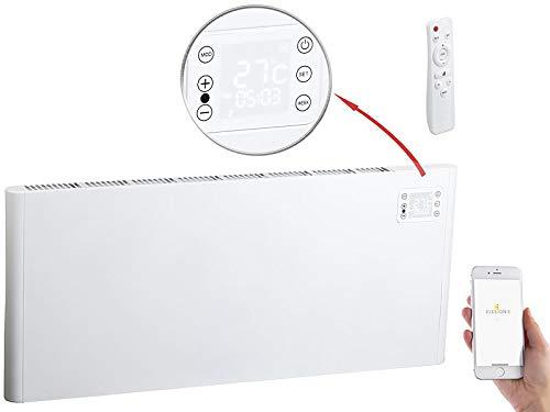 Sichler Haushaltsgeräte Elektroheizung WLAN: WLAN-Konvektor-Heizung mit App, komp. zu Alexa & Google, 2.000 Watt (Elektroheizung WLAN Steuerung)
