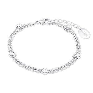 s.Oliver Armband für Damen, Edelstahl