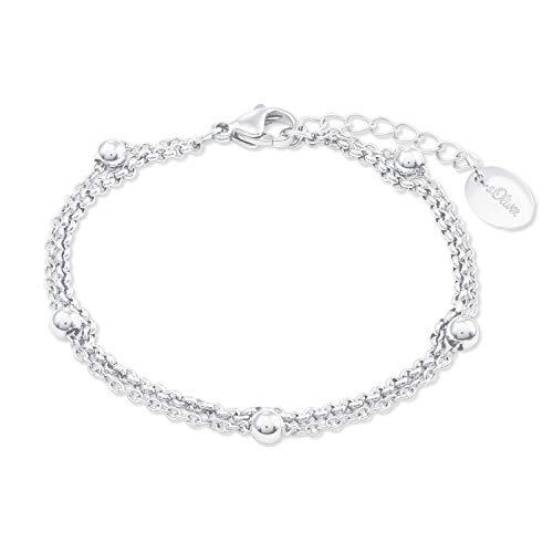 s.Oliver Armband für Damen aus Edelstahl im Kugel-Design
