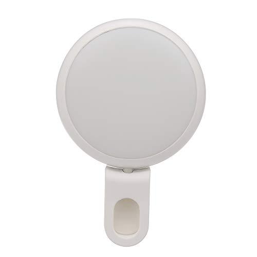 Anself Selfie Ring Licht Makeup LED Selfie Light mit 360 ° Dreh Clip Mini Selfie Kamera Licht Einstellbare Helligkeit Bunte Atmosphäre