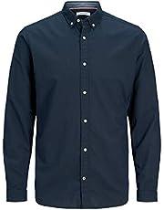 قميص Jack & Jones رجالي بأزرار سفلية من الكتان مقاس نحيف