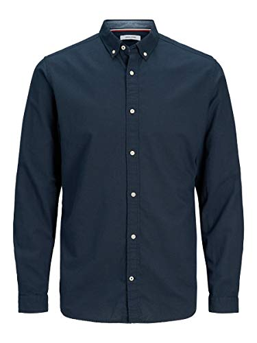 JACK & JONES Male Hemd Button-down-Kragen MNavy Blazer