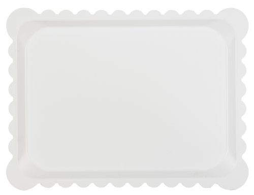 Platex 104030020D Plateau Stratifié Dentelle Blanc