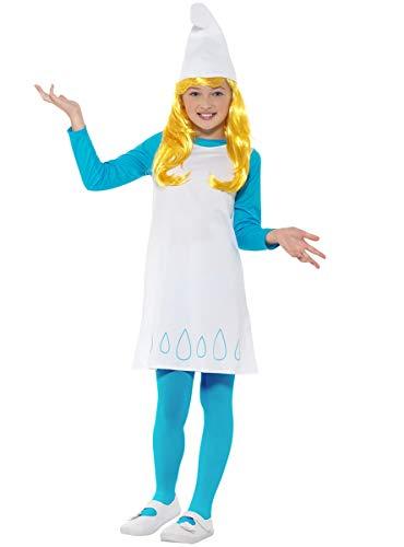 Funidelia   Disfraz de Pitufina Oficial para niña Talla 5-6 años ▶ The Smurfs, Dibujos Animados, Los Pitufos, Enanito - Color: Azul - Licencia: 100% Oficial