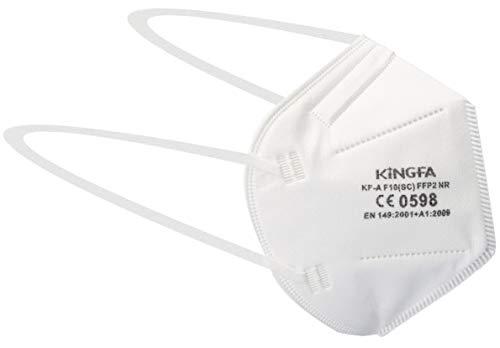 KINGFA 30x Einweg-Staubmaske - EN 149 FFP2 - Maske gegen Holz- & Metallstaub, weiß, No-Name FFP2