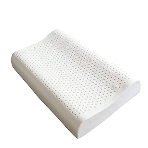 HMMHHE Almohada de látex hipoalergénica de almohada cervical, látex natural súper suave y transpirable para dormir, bajo y alto diseño de gránulos de gránulos de granulado almohada para el cuello y el