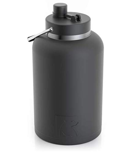 RTIC Jug, 1 gallon, Black, Vacuum Insulated Large Water Bottle, with Handle