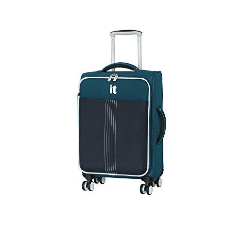 it luggage Filament 8 Wheel Lightweight Semi Expander Suitcase Cabin Maleta, 56 cm, 46 Liters, Azul...