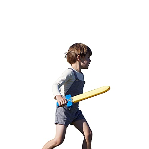 Product Image of the Sarah's Silks Blue Foam Sword Toy for Kids 17' Long | Waldorf Toys for Creative...