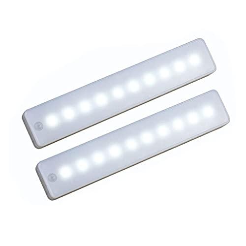 Luce armadio Luci da Incasso a LED Armadio Wireless Stick-on Anywhere Sensore di Movimento Notte Light Bar PIR Sensore di Movimento Della Lampada Della Batteria Notte Operated (Color : Warm White)