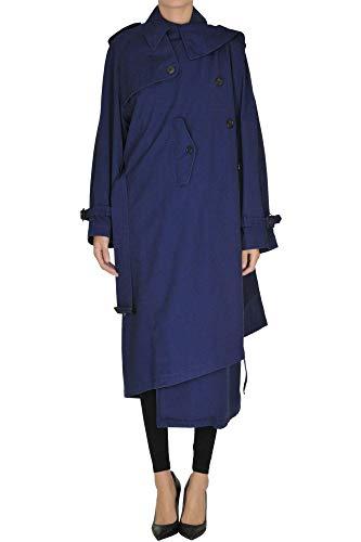 Luxury Fashion | Balenciaga Dames MCGLCSC0000B7027E Donkerblauw Katoen Mantels | Seizoen Outlet