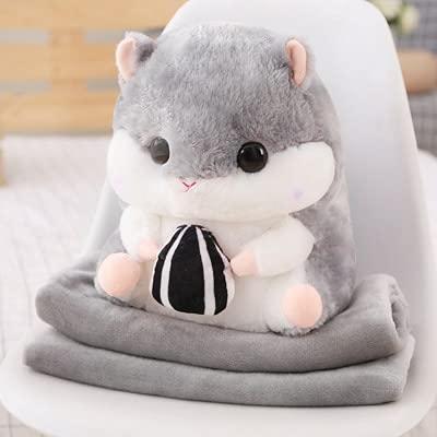 YULE Schlafdecke Hamsterpuppe Luftable Decke 3-in-1 Nickerchen Kissen Hamster Plüsch und Decke Plüsch Spielzeug Geburtstagsgeschenk Tasche Handschellen (Farbe: 1, Größe: Hand in Stil)